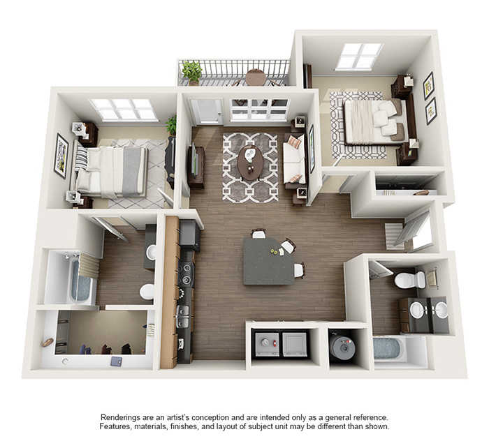 Apex 5510 Apartments - Floorplan - Sage