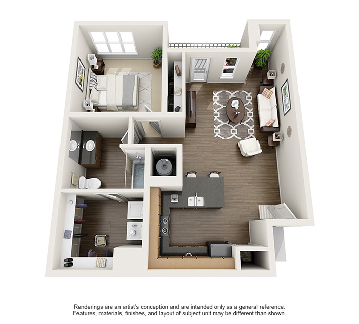 Apex 5510 Apartments - Floorplan - Torrey's Peak
