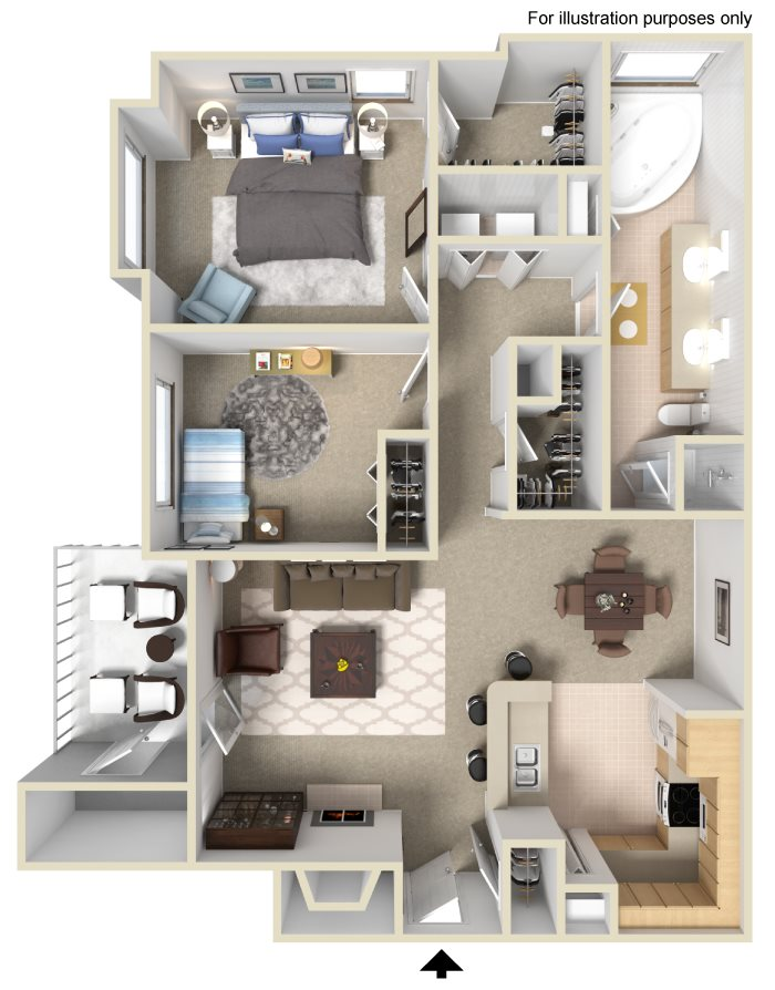 Appling Lakes Apartments  - Floorplan - 2x1