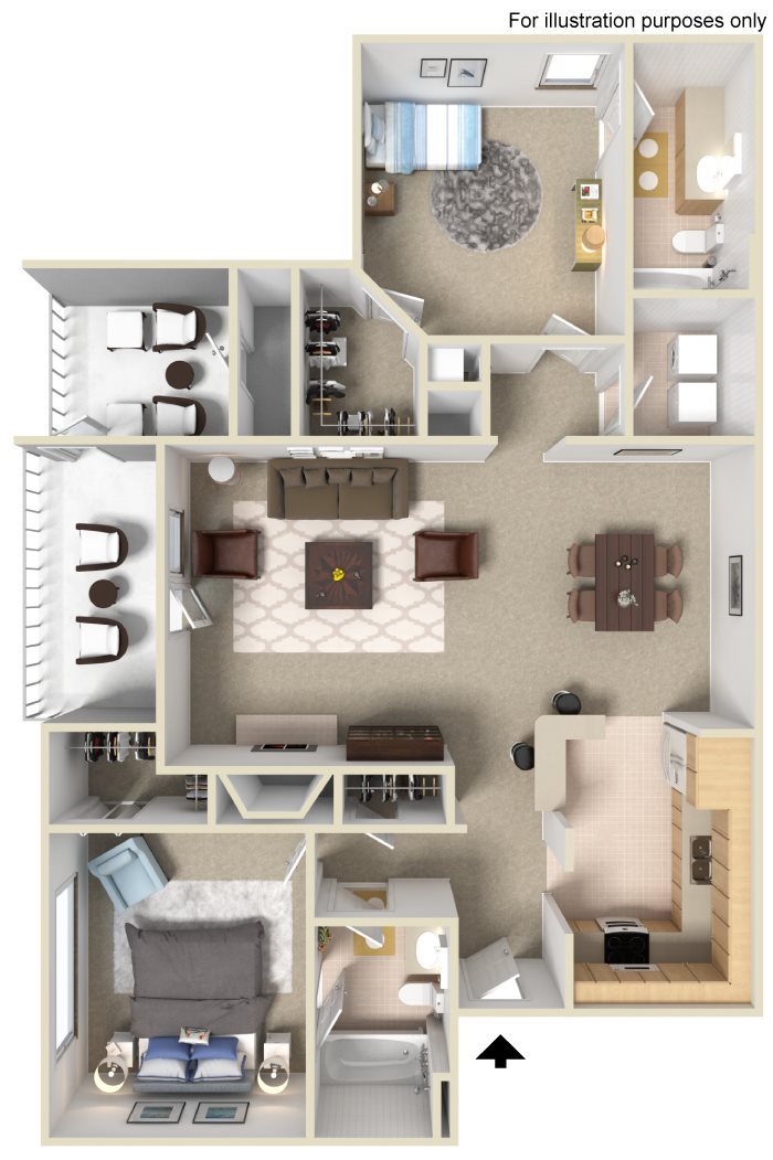 Appling Lakes Apartments  - Floorplan - 2x2