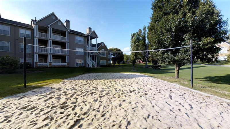 Sand Volleyball Court at Appling Lakes Apartments in Cordova, Tennessee