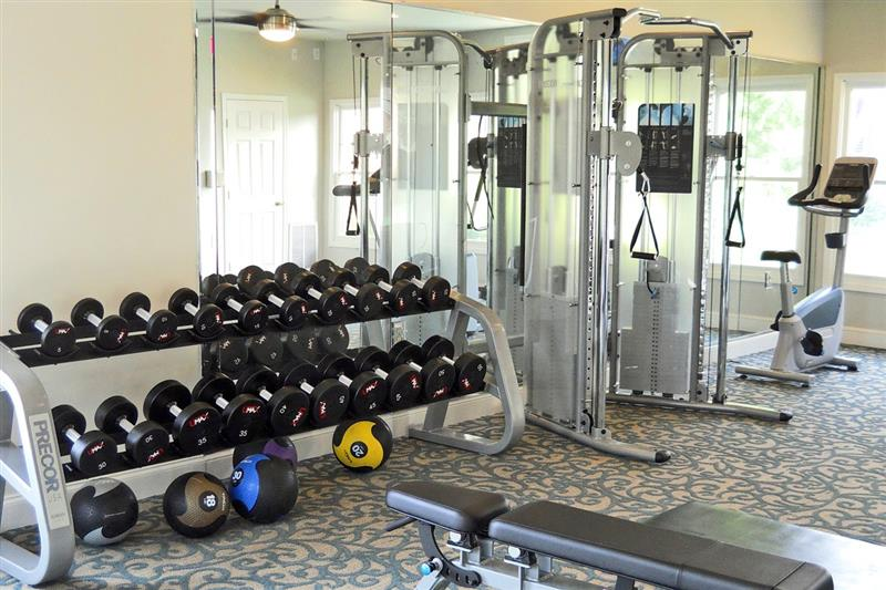 24-Hour Fitness Center at Appling Lakes Apartments in Cordova, Tennessee