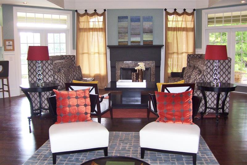 Beautiful Resident Clubhouse at Appling Lakes Apartments in Cordova, Tennessee