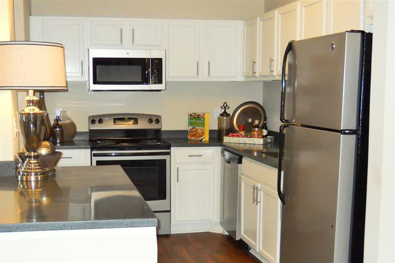 Stainless Steel Appliances at Appling Lakes Apartments in Cordova, Tennessee