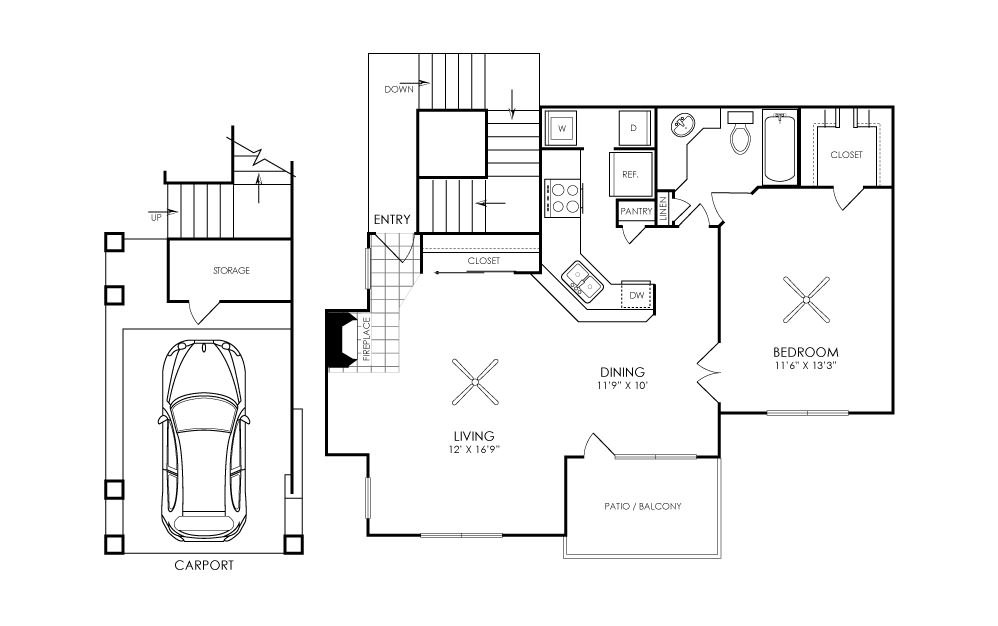 Ashford Apartments - Floorplan - A2