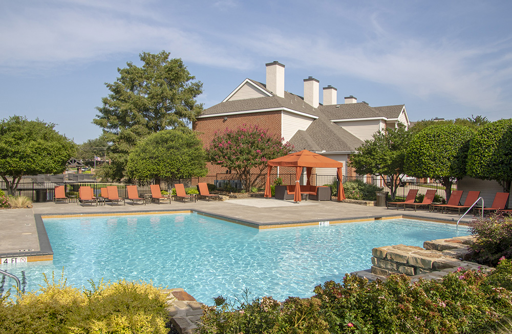 Resort-Style Pool at Ashford Apartments in Carrollton, Texas