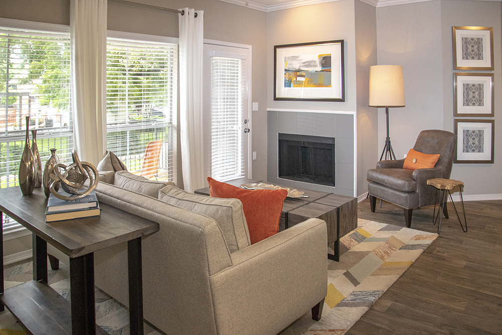 Warm Color Scheme at Ashford Apartments in Carrollton, Texas