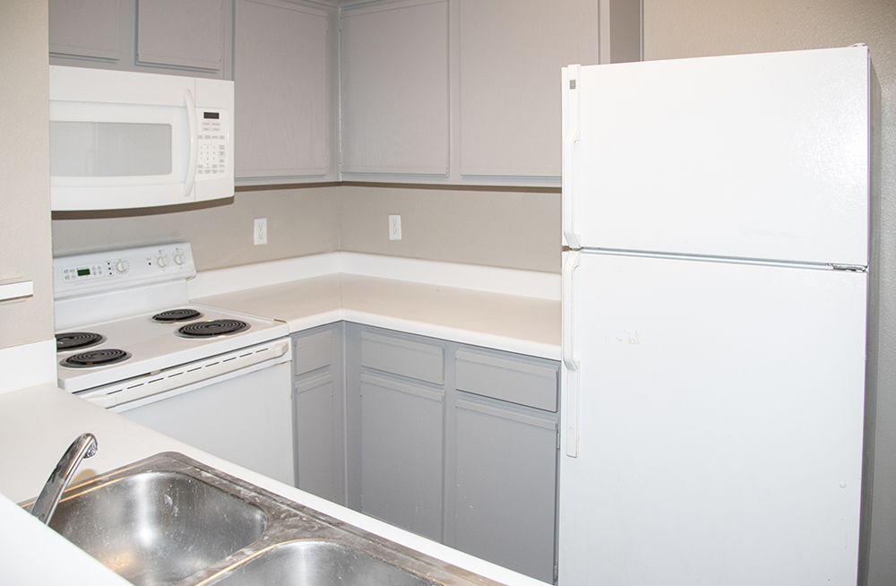 Designer Cabinetry at Ashford Apartments in Carrollton, Texas
