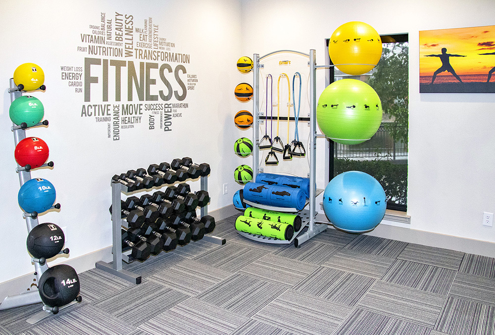 Professional Gym Equipment at Ashford Apartments in Carrollton, Texas