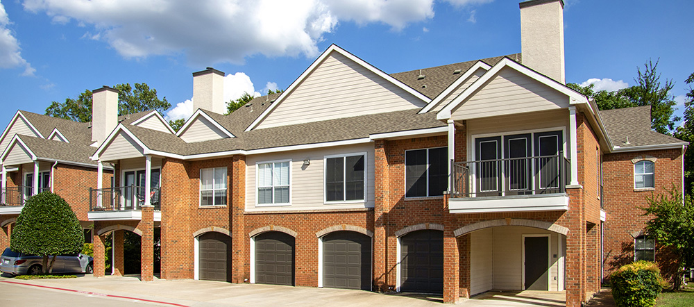 Attached Garages at Ashford Apartments in Carrollton, Texas