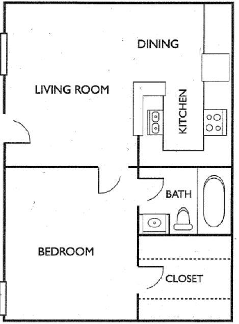 Ashford Court Apartments - Floorplan - Plan A