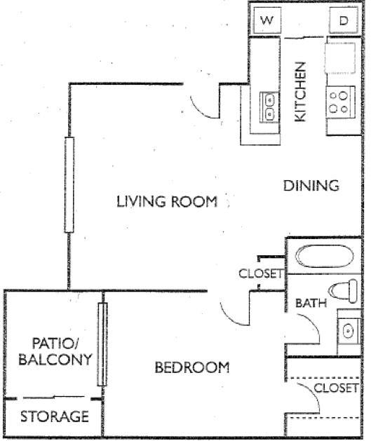 Ashford Court Apartments - Floorplan - Plan D