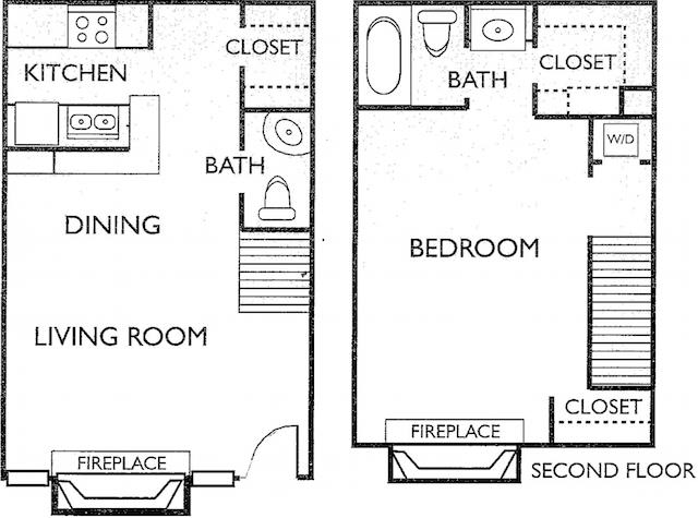 Ashford Court Apartments - FloorPlan - Plan F1-F2