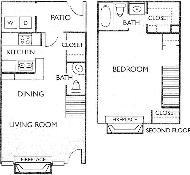 Ashford Court Apartments - Floorplan - Plan F3
