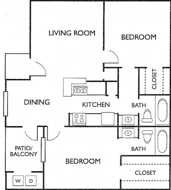 Ashford Court Apartments - Floorplan - Plan G