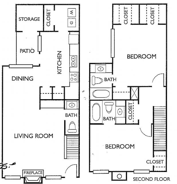 Ashford Court Apartments - Floorplan - Plan K