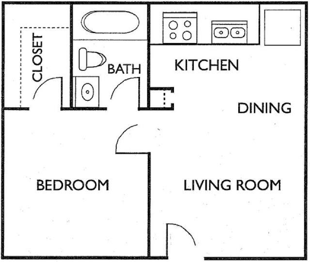 Ashford Court Apartments - Floorplan - Plan X