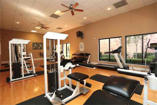 Upscale Fitness Equipment at Ashford Court Apartments in Houston, Texas