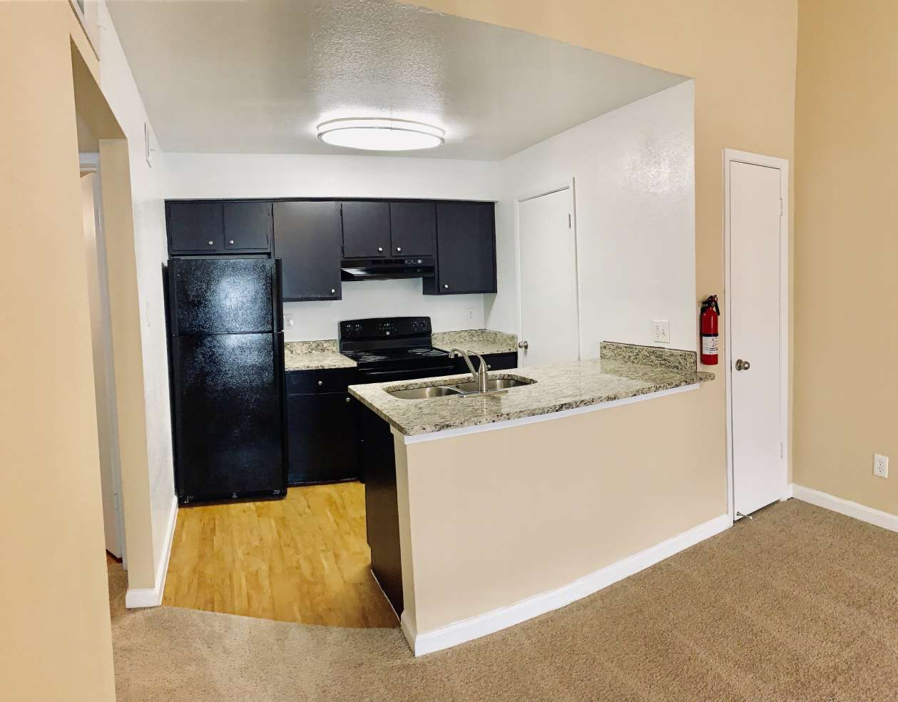 Black Appliances at Ashford Pointe Apartments in Houston, Texas