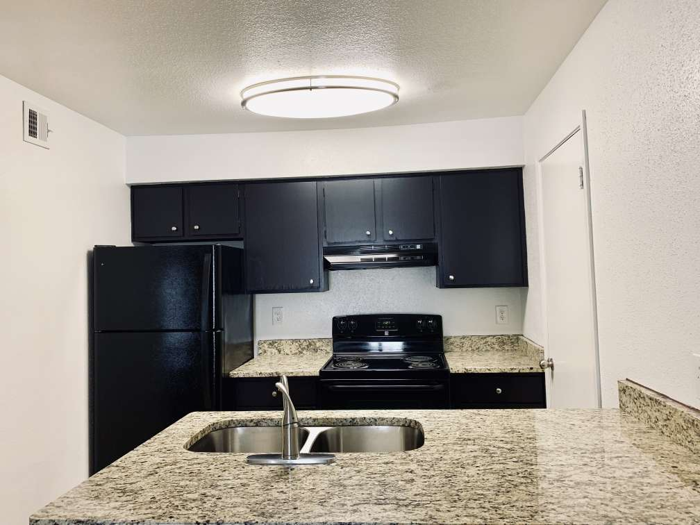 Interior Kitchen at Ashford Pointe Apartments in Houston, Texas
