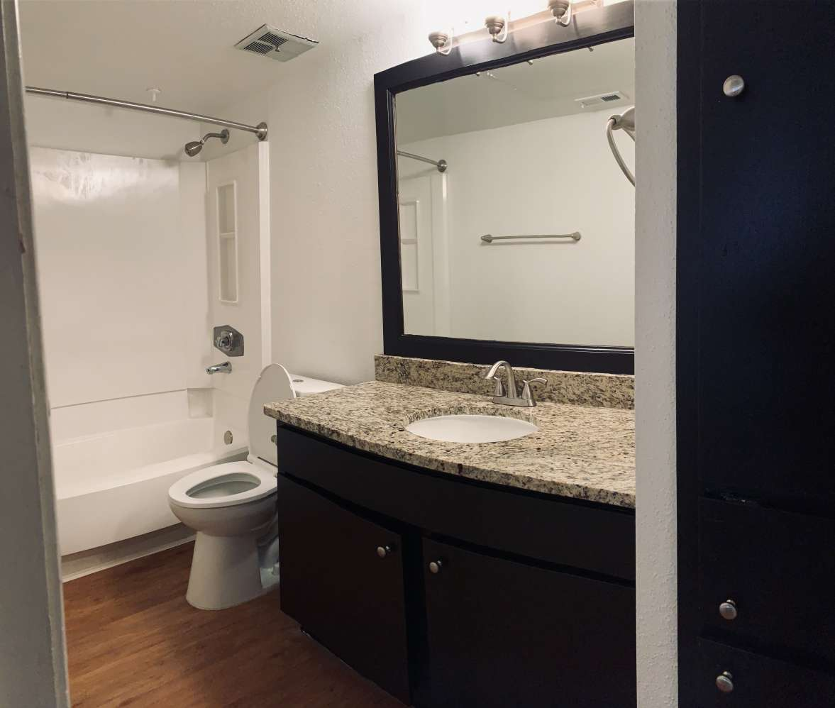 Bathroom at Ashford Pointe Apartments in Houston, Texas