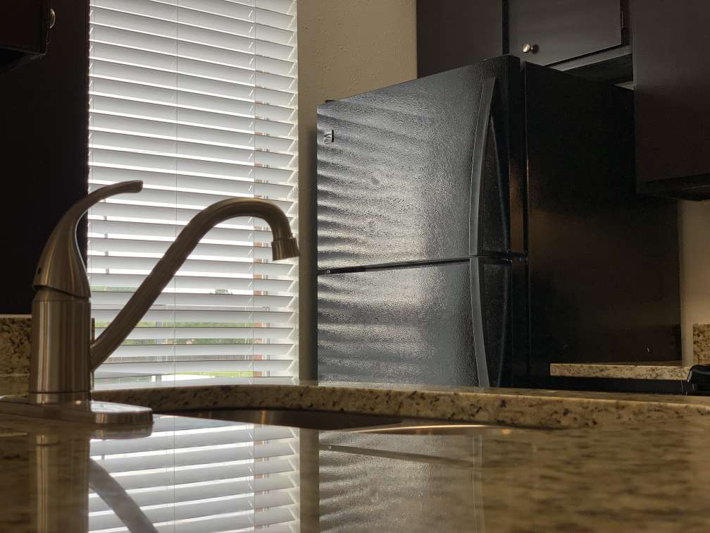 Black Kitchen Appliances at Ashford Pointe Apartments in Houston, Texas