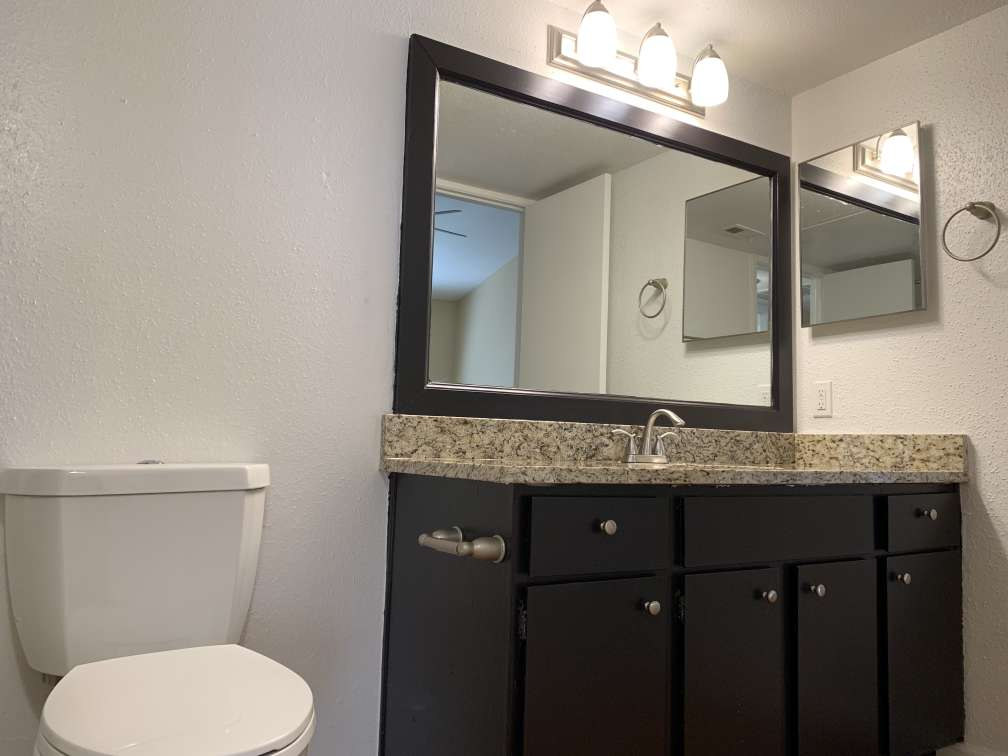Singe Vanity at Ashford Pointe Apartments in Houston, Texas