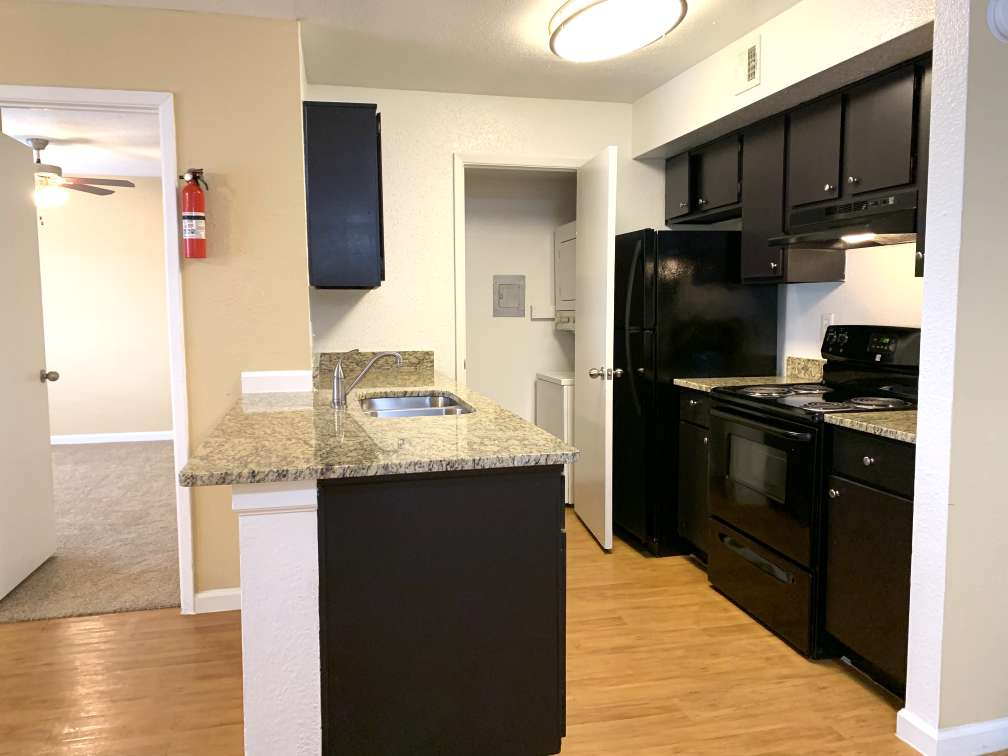Fully Equipped Kitchen at Ashford Pointe Apartments in Houston, Texas