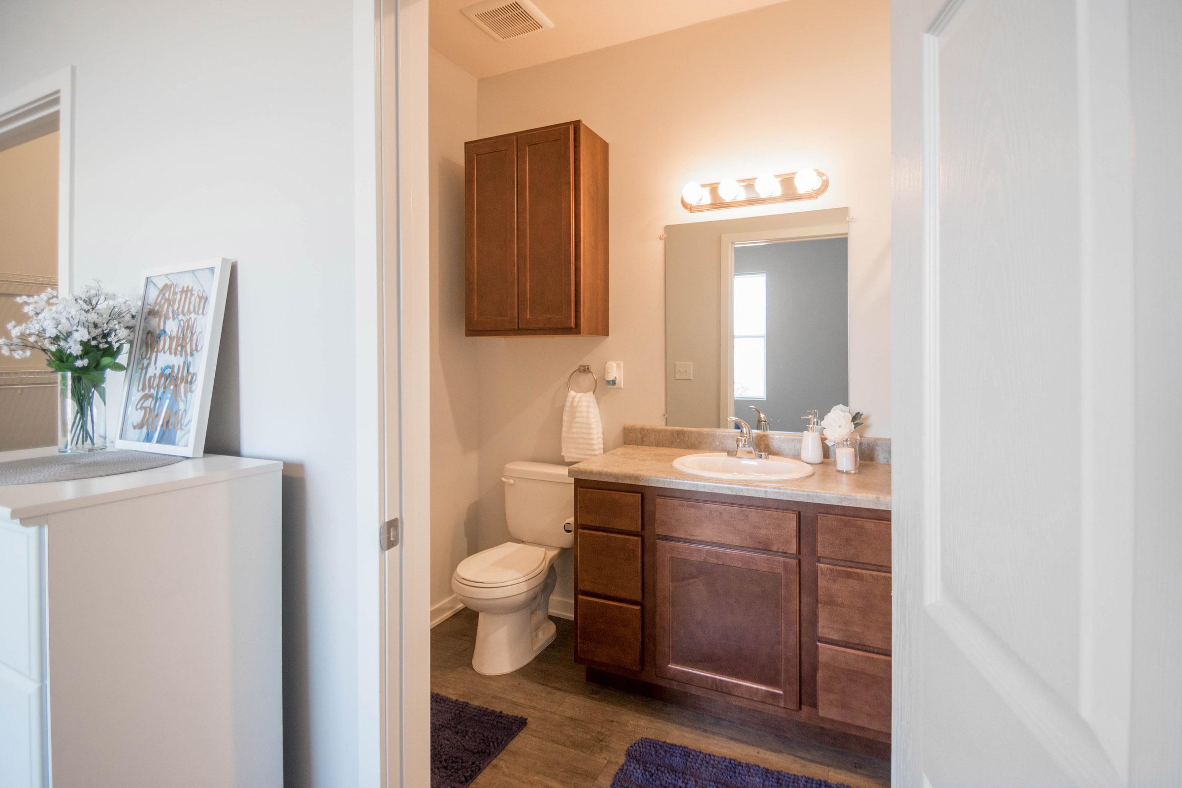 Bathroom at Aspen Grove Apartments in Omaha, NE