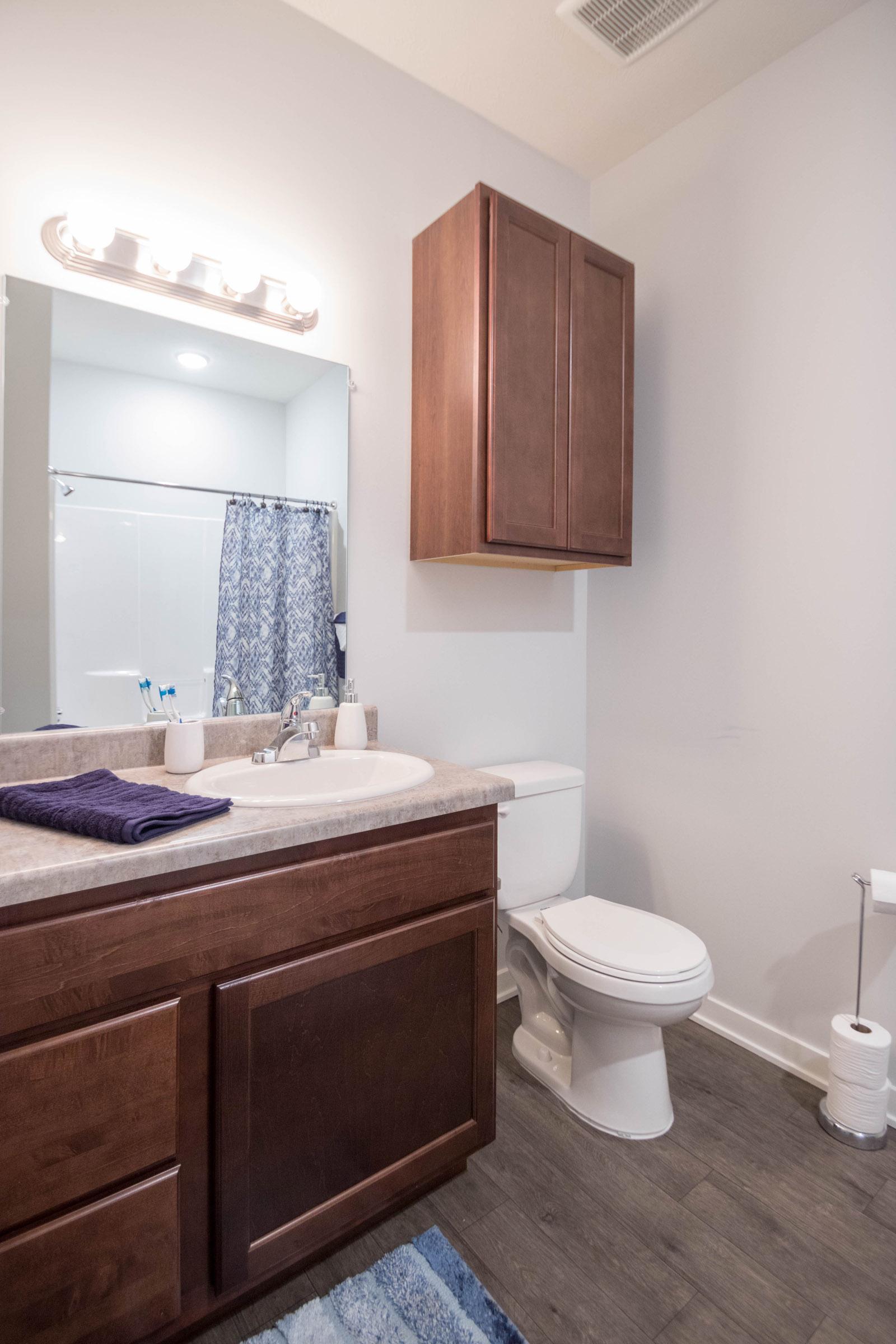 Sleek Wood Floors at Aspen Grove Apartments in Omaha, NE
