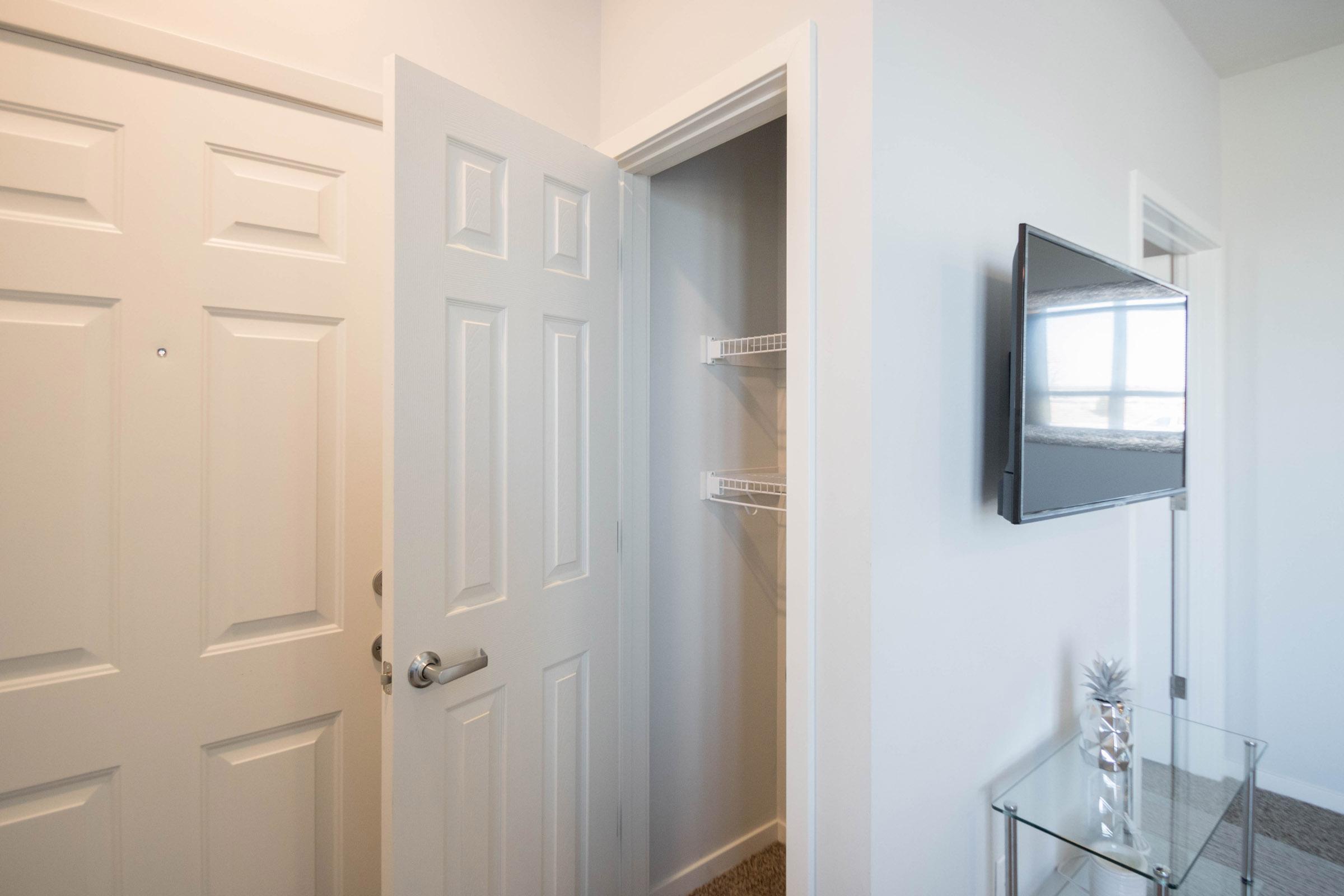 Entry Closet at Aspen Grove Apartments in Omaha, NE