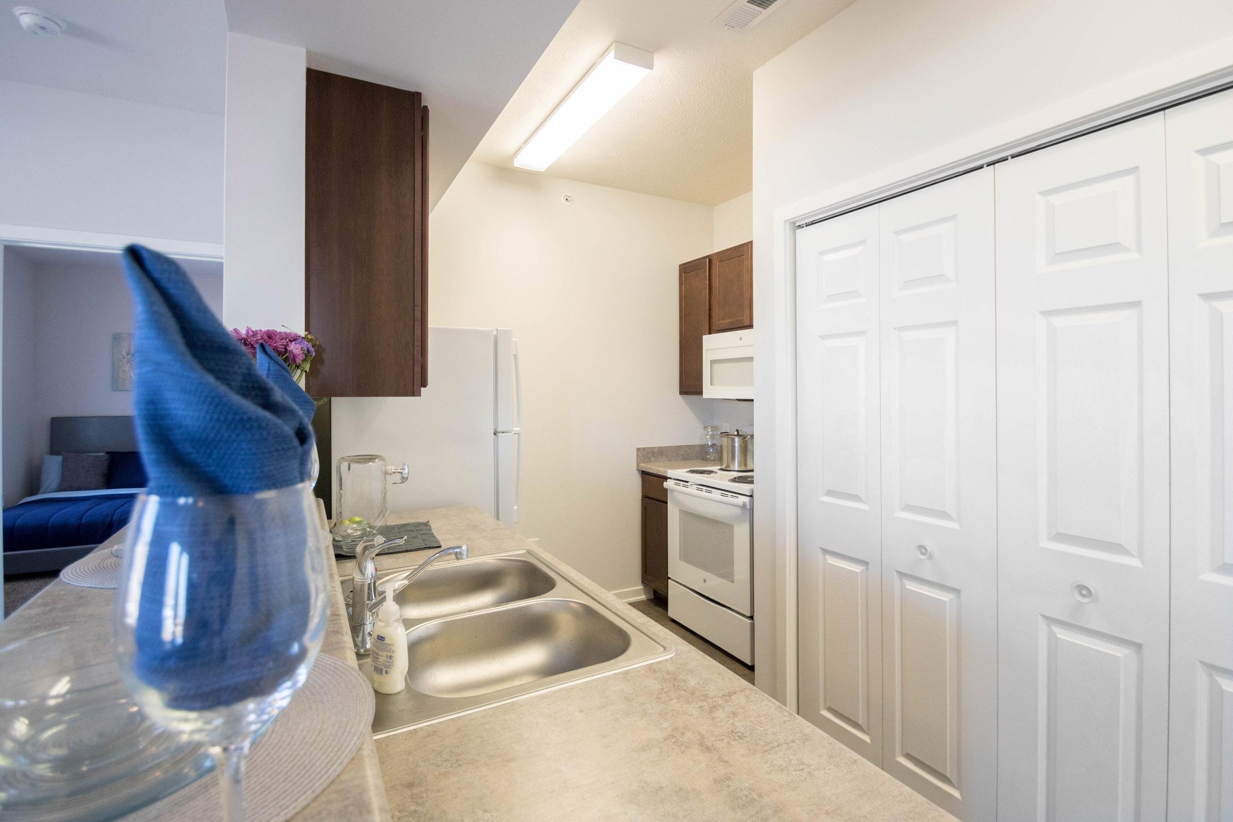 Modern Kitchen at Aspen Grove Apartments in Omaha, NE