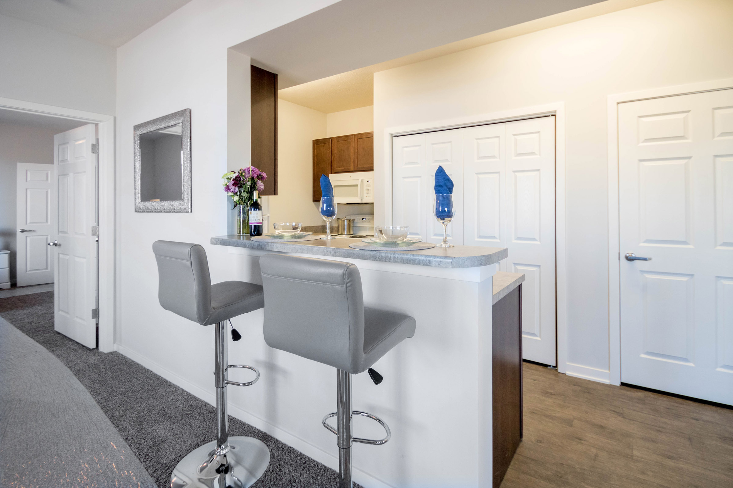 Open Kitchen Layout at Aspen Grove Apartments in Omaha, NE