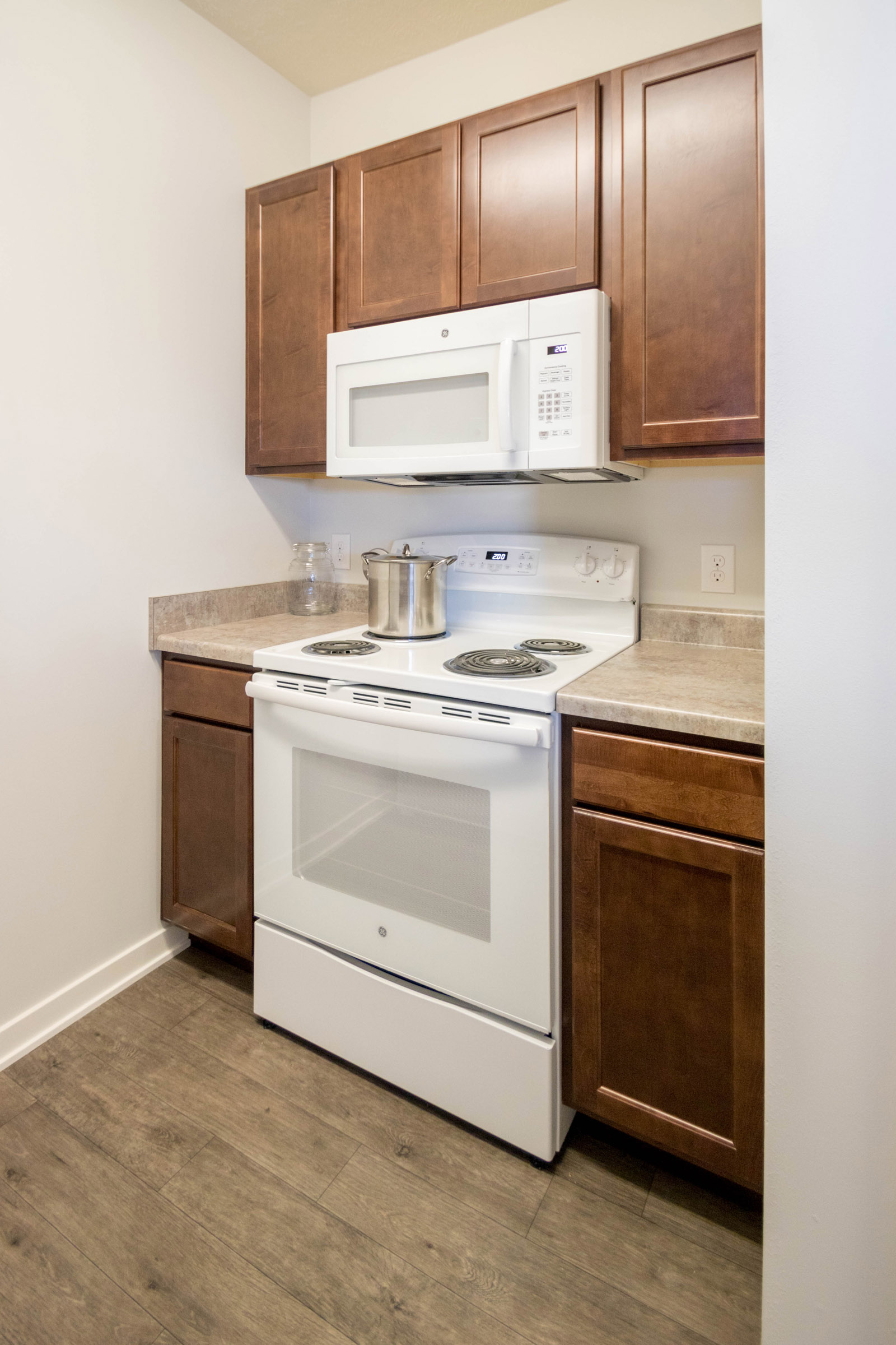 Built-in Microwave at Aspen Grove Apartments in Omaha, NE