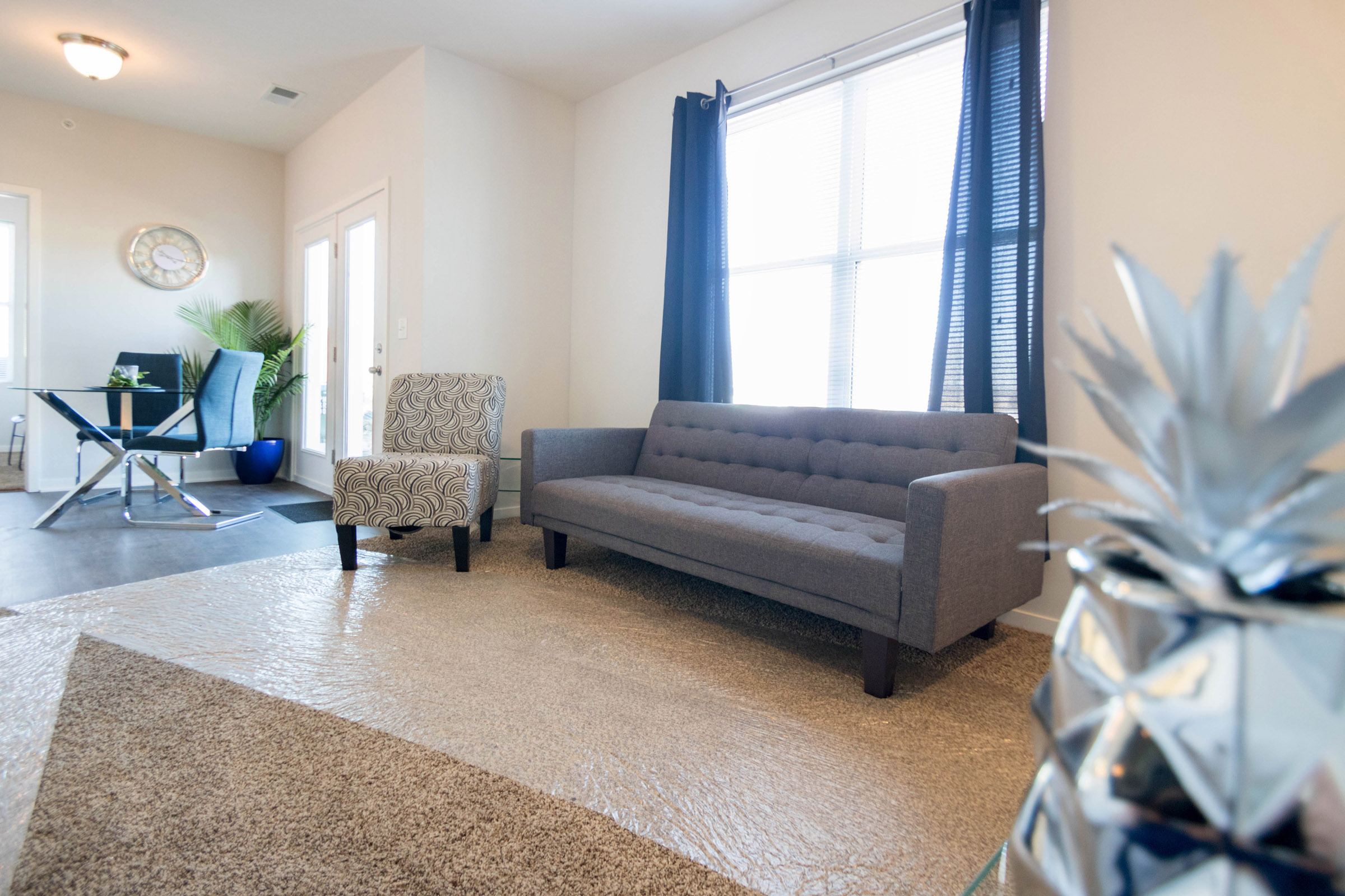 Living Room at Aspen Grove Apartments in Omaha, NE