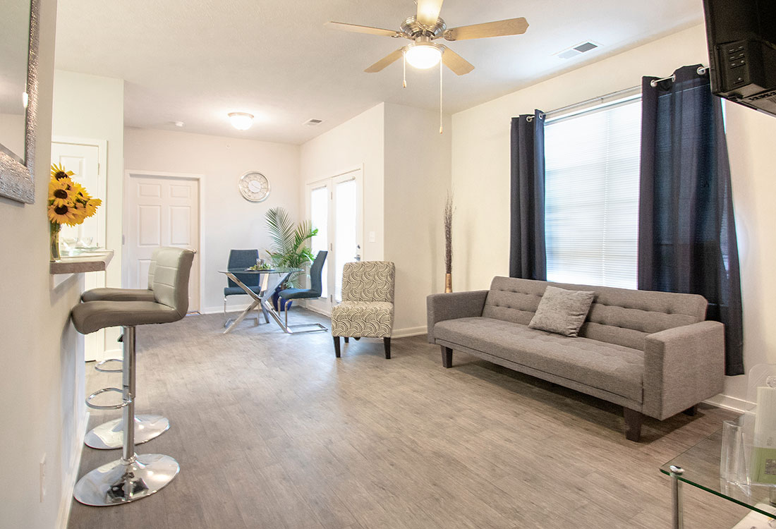 Wood-Look Flooring at Aspen Grove Apartments in Omaha, NE