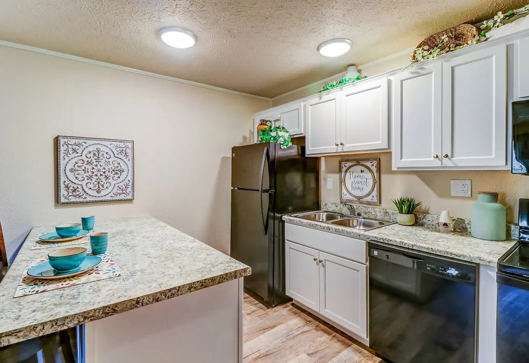 Kitchen Island at Aspen Meadow Apartments in Hopkinsville,  KY