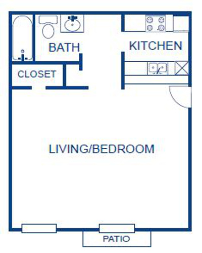 Aubry Hills Apartments - Floorplan - Eff. 1