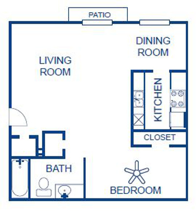 Aubry Hills Apartments - Floorplan - Eff. 2