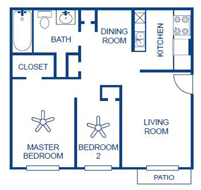 Aubry Hills Apartments - FloorPlan - Plan B1