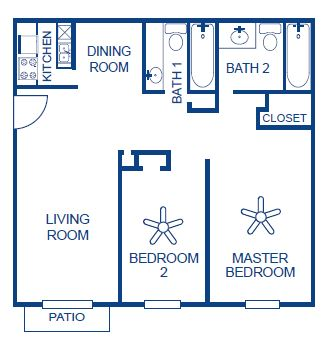 Aubry Hills Apartments - Floorplan - Plan B2
