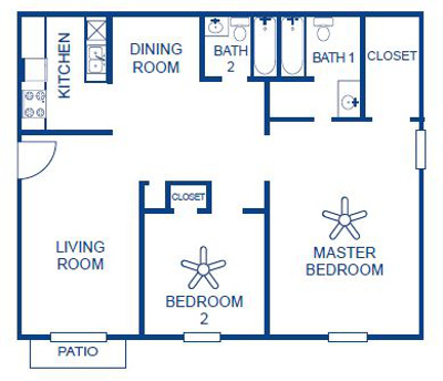 Aubry Hills Apartments - Floorplan - Plan B3