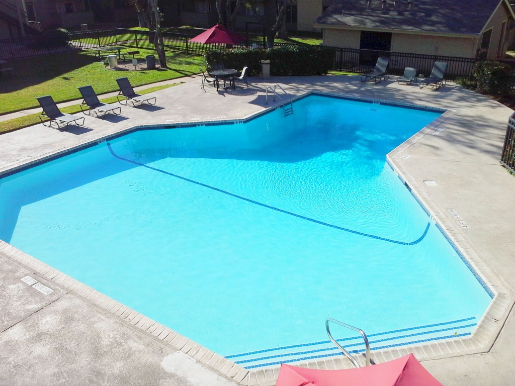 Resort-Style Swimming Pool at Aubry Hills Apartments in Austin, TX