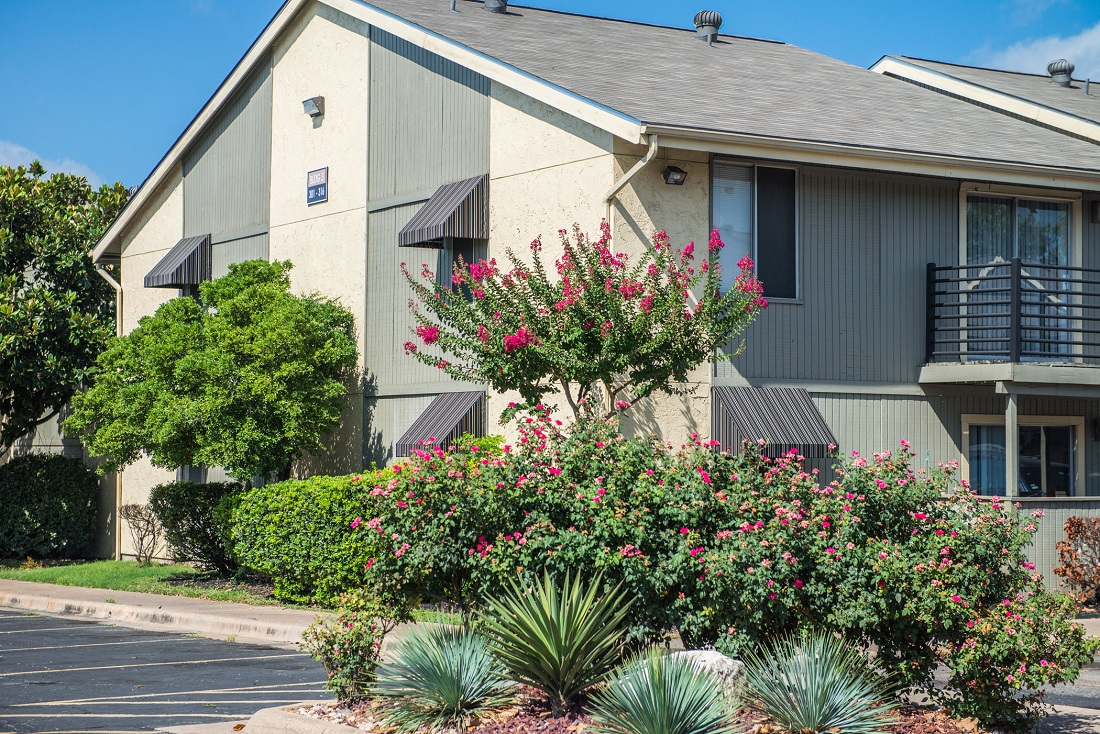 Mature Trees and Plants at Aubry Hills Apartments in Austin, TX