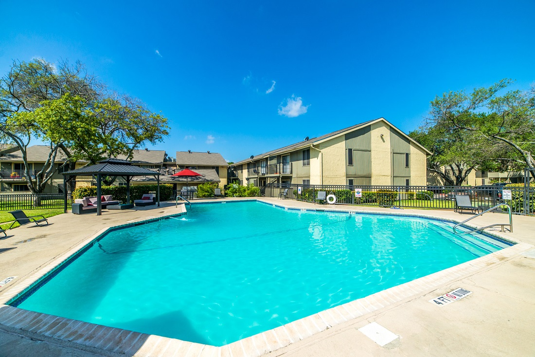 Sparkling Swimming Pool at Aubry Hills Apartments in Austin, TX