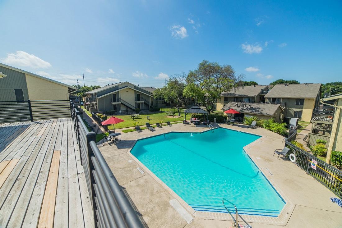 Pool Deck at Aubry Hills Apartments in Austin, TX