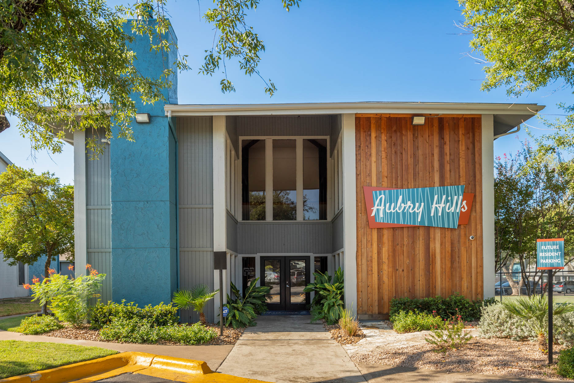 Welcome Center and Leasing Office at Aubry Hills Apartments in Austin, TX
