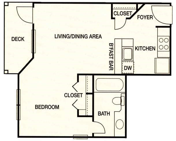 Augusta Commons Apartments - Floorplan - Plan A1