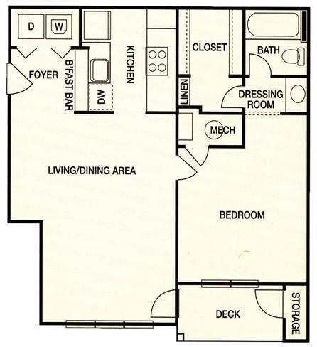 Augusta Commons Apartments - FloorPlan - Plan A2