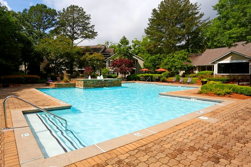 Sparkling Swimming Pool at Augusta Commons Apartments in Marietta, Georgia